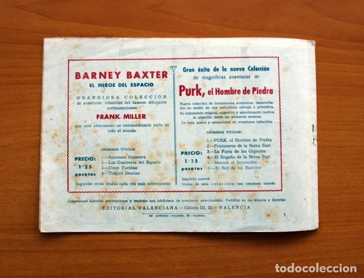 Tebeos: Barney Baxter nº 1, Amenaza siniestra - Editorial Valenciana 1950 - Tamaño 17X24 - Foto 7 - 100985011