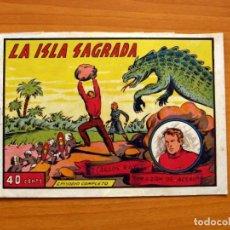 Tebeos: CARLOS RAY CORAZÓN DE ACERO (GAGO)- Nº 1, LA ISLA SAGRADA - EDITORIAL VALENCIANA 1943- TAMAÑO 15X21. Lote 100986903