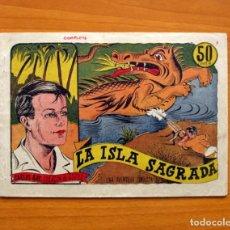 Tebeos: CARLOS RAY CORAZÓN DE ACERO (VAÑÓ)- Nº 1, LA ISLA SAGRADA - EDITORIAL VALENCIANA 1941 - TAMAÑO 15X21. Lote 100987319