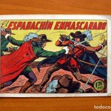 Tebeos: EL ESPADACHIN ENMASCARADO Nº 1 - EDITORIAL VALENCIANA 1952 - TAMAÑO 17X24. Lote 100990451