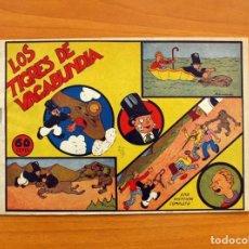 Tebeos: DON CANUTO Y MOLLETE - Nº 1, LOS TIGRES DE VAGABUNDIA - EDITORIAL VALENCIANA 1943 - TAMAÑO 16X24. Lote 100996923