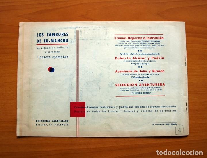Tebeos: Grandes aventuras y peliculas - nº 1, Venganza y guerra - Editorial Valenciana 1943 - Tamaño 21x31 - Foto 7 - 101042699