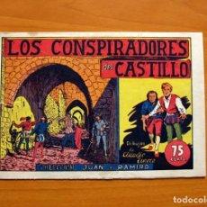 Tebeos: JUAN Y RAMIRO - Nº 1, LOS CONSPIRADORES DEL CASTILLO - EDITORIAL VALENCIANA 1944 - TAMAÑO 17X24. Lote 101042999