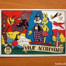 Tebeos: PELUSIN Y PELUSILLA - Nº 1, VIAJE ACCIDENTADO - EDITORIAL VALENCIANA 1944 - TAMAÑO 16X24. Lote 101043887