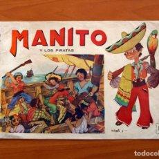 Tebeos: MANITO Y LOS PIRATAS - EDITORIAL ARPA, AÑOS 40 - TAMAÑO 21'5X31'5. Lote 101062155