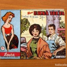 Tebeos: COLECCIÓN LAURA, Nº 1, UNA BUENA TRETA - EDITORIAL FERMA 1959 - TAMAÑO 16X21. Lote 101079303