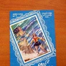 Tebeos: SERIE AZUL, Nº 1, EL LAGO ENCANTADO - EDICIONES SUPER 1950 - TAMAÑO 21'5X15'5. Lote 101080051