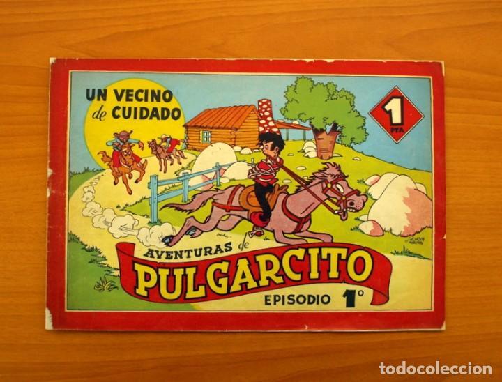 AVENTURAS DE PULGARCITO, Nº 1, UN VECINO DE CUIDADO - EDITORIAL BRUGUERA 1944 - TAMAÑO 21'5X31'5 (Tebeos y Cómics - Números 1)