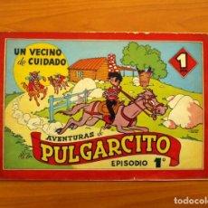 Tebeos: AVENTURAS DE PULGARCITO, Nº 1, UN VECINO DE CUIDADO - EDITORIAL BRUGUERA 1944 - TAMAÑO 21'5X31'5. Lote 101361035