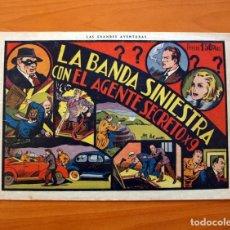 Tebeos: AGENTE SECRETO X9 - Nº 1, LA BANDA SINIESTRA - EDITORIAL HISPANO AMERICANA 1941 - TAMAÑO 21'5X31'5. Lote 101459759