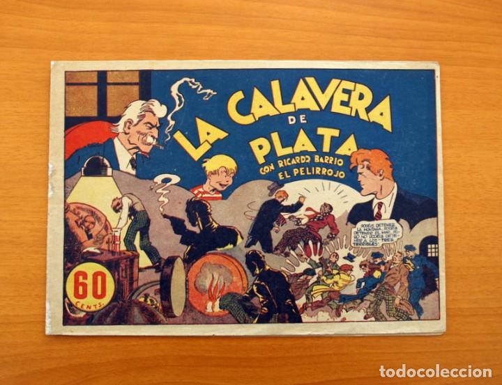 RICARDO BARRIO EL PELIRROJO, Nº 1, LA CALAVERA DE PLATA - HISPANO AMERICANA 1941 - TAMAÑO 17X24'5 (Tebeos y Cómics - Números 1)
