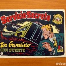 Tebeos: SERVICIO SECRETO, Nº 1, UN BANDIDO CON SUERTE - EDITORIAL HISPANO AMERICANA 1957 - TAMAÑO 17X25. Lote 101550763