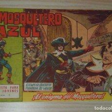 Tebeos: EL ENIGMA DEL MOSQUETERO. Nº 1 DE EL MOSQUETERO AZUL. EDITORIAL BRUGUERA. 1962. M. GAGO. Lote 108058187