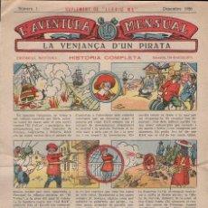 Tebeos: L'AVENTURA MENSUAL SUPLEMENT DE LLEGIU ME Nº 1 - 1926. Lote 110573255