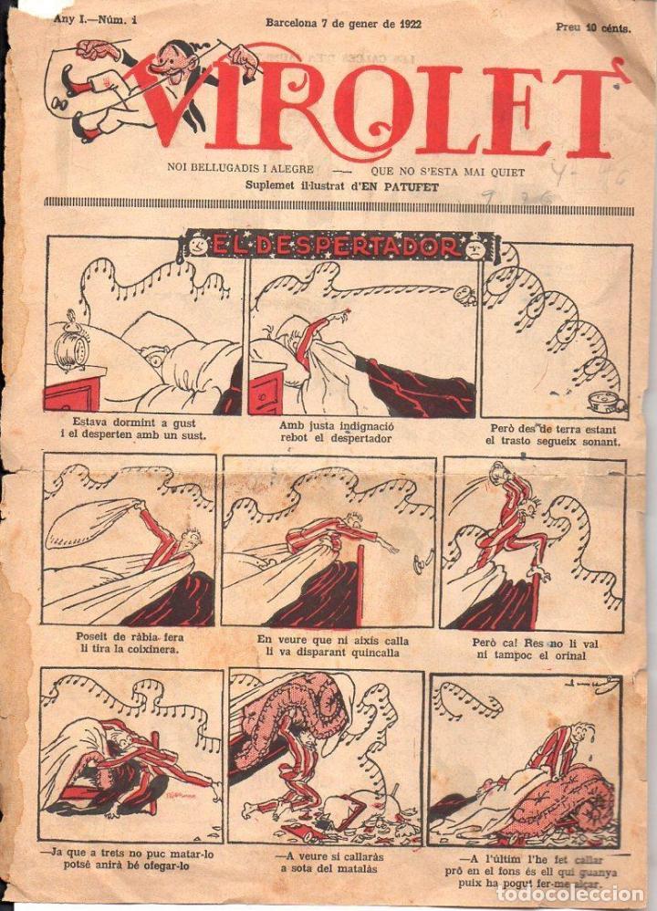 VIROLET Nº 1 - 1922 SOLAMENTE LA CUBIERTA (Tebeos y Cómics - Números 1)
