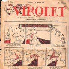 Tebeos: VIROLET Nº 1 - 1922 SOLAMENTE LA CUBIERTA. Lote 110573955