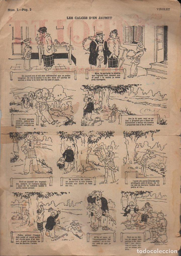 Tebeos: VIROLET Nº 1 - 1922 SOLAMENTE LA CUBIERTA - Foto 2 - 110573955