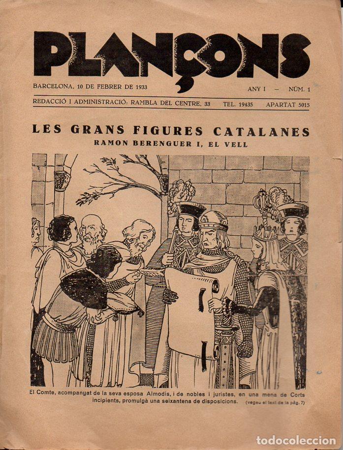 PLAÇONS Nº 1 - 1933 SOLAMENTE LAS DOS CUBIERTAS (Tebeos y Cómics - Números 1)