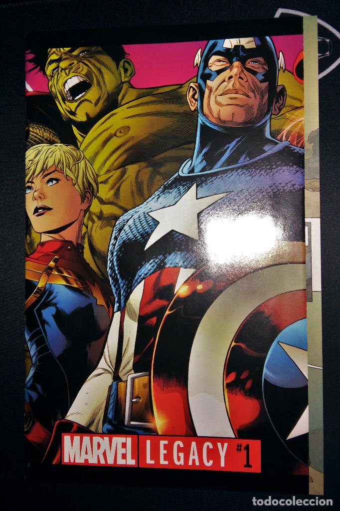 Tebeos: Marvel Legacy #1 2017 Variant Cover Portada desplegable Vengadores Avengers Joe Quesada EN INGLÉS - Foto 4 - 111463459