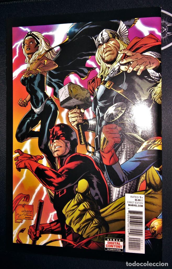 Tebeos: Marvel Legacy #1 2017 Variant Cover Portada desplegable Vengadores Avengers Joe Quesada EN INGLÉS - Foto 5 - 111463459