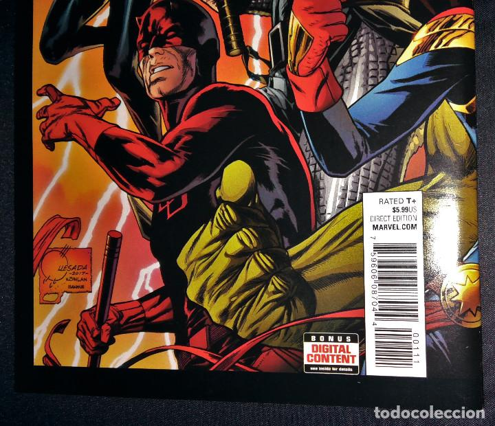 Tebeos: Marvel Legacy #1 2017 Variant Cover Portada desplegable Vengadores Avengers Joe Quesada EN INGLÉS - Foto 13 - 111463459