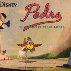 Tebeos: WALT DISNEY PEDRO EL AVIONCITO DE LOS ANDES Nº 1 AÑO 1944. Lote 111756999