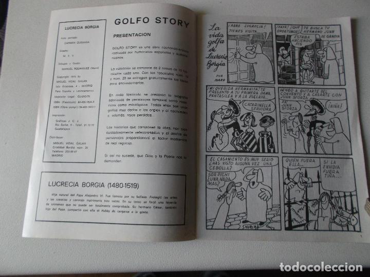 Tebeos: GOLFO STORY LA VIDA GOLFA DE LUCRECIA BORGIA NUMERO 1 -1976 MANUEL RODRIGUEZ , - Foto 2 - 113326039