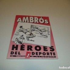 Tebeos: HÉROES DEL DEPORTE, AÑO 1.992. Nº 1. DIBUJOS DE AMBRÓS MUY NUEVO.. Lote 127033327