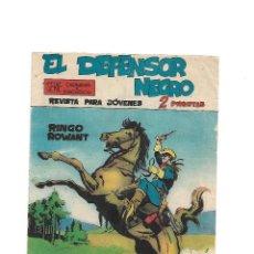 Tebeos: EL DEFENSOR NEGRO, Nº 1. ORIGINAL AÑO 1.963. 21 X 15. 1ª SERIE DIBUJANTE PAUL PAYNE EDITORIAL MAGA.. Lote 127203883