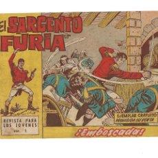 BDs: EL SARGENTO FURIA, Nº 1. ORIGINAL, AÑO 1962. DIBUJANTE J. ESCANDELL. EDITORIAL BRUGUERA.. Lote 127211715