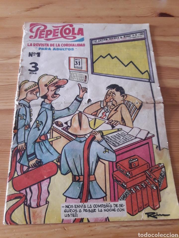 REVISTA PEPECOLA NO 1 1959 COMPLETO PERO CON RECORTE EN LA ULTIMA PAGINA (Tebeos y Cómics - Números 1)