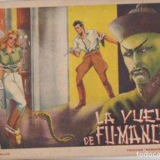 BDs: DIAMANTE NEGRO Nº 1. LA VUELTA DE FU-MANCHU. EDICIONES RIALTO 1944. Lote 130417194