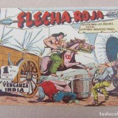 Tebeos: FLECHA ROJA , NUMERO 1 , VENGANZA INDIA , VALENCIANA , ESTA COMO NUEVO. Lote 130541718
