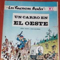Tebeos: LOS GUERREROS AZULES.UN CARRO EN EL OESTE. ED.NOVARO 1978. Lote 130816012