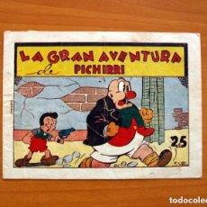 Tebeos: IGA - PICHIRRI - Nº 1, LA GRAN AVENTURA DE PICHIRRI - EDIT. HISPANO AMERICANA 1943 - TAMAÑO 15'5X21. Lote 132095802