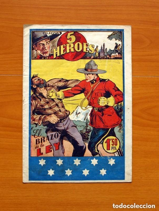5 HÉROES, Nº 1, EL BRAZO DE LA LEY - EDICIONES FIAC 1946 - TAMAÑO 30X21 - VER FOTOS (Tebeos y Cómics - Números 1)