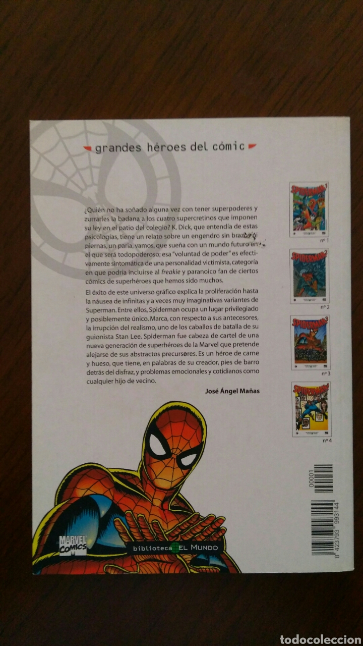 Tebeos: Lote comics forum de Spiderman, colección grandes heroes del mundo. Número 1,2,3 y 4 - Foto 4 - 132658169