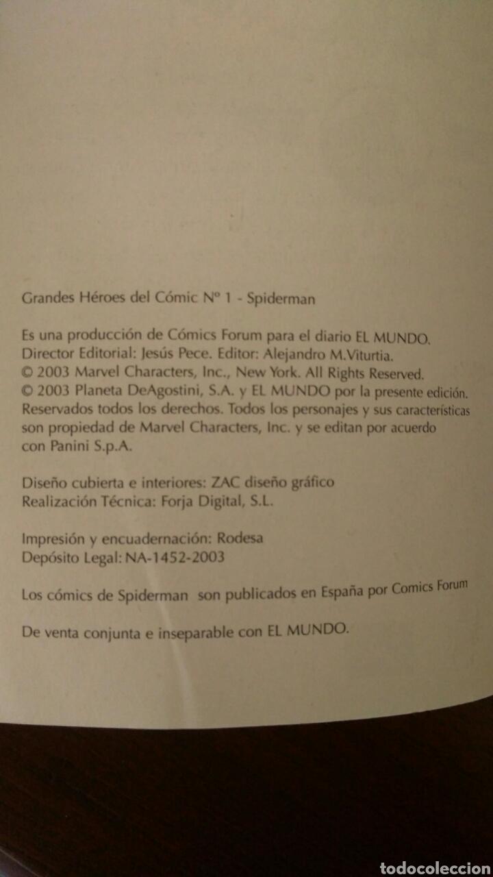 Tebeos: Lote comics forum de Spiderman, colección grandes heroes del mundo. Número 1,2,3 y 4 - Foto 11 - 132658169