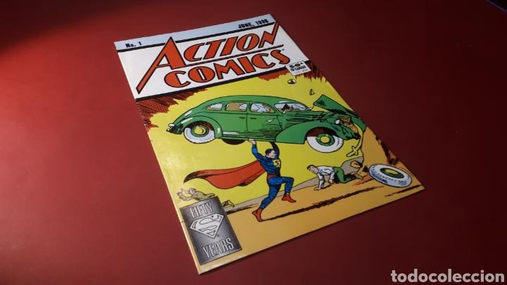 EXCELENTE ESTADO ACTION COMICS 1 SUPERMAN FIFTY YEARS FACSIMIL 1988 USA (Tebeos y Cómics - Números 1)