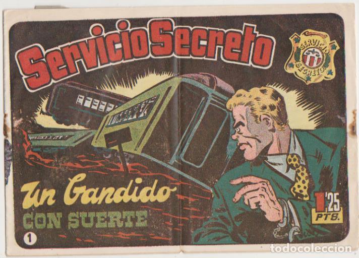 SERVICIO SECRETO Nº 1. H. AMERICANA 1954. SIN ABRIR. -CONTIENE INSIGNIA DE REGALO. (Tebeos y Cómics - Números 1)