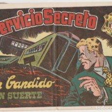 Tebeos: SERVICIO SECRETO Nº 1. H. AMERICANA 1954. SIN ABRIR. -CONTIENE INSIGNIA DE REGALO.. Lote 134727657