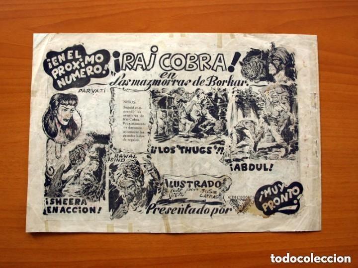 Tebeos: Raj Cobra, nº 1, La emboscada mortal - Ediciones Angel Nieto 1945 - Tamaño 21x31 - ver fotos - Foto 7 - 135192778