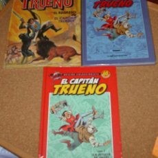 Tebeos: EL CAPITAN TRUENO LOTE DE 3 TOMOS Nº 1 EN TAPA DURA E IMPECABLES. Lote 135789410