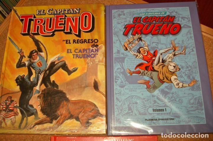 Tebeos: EL CAPITAN TRUENO LOTE DE 3 TOMOS Nº 1 EN TAPA DURA E IMPECABLES - Foto 3 - 135789410