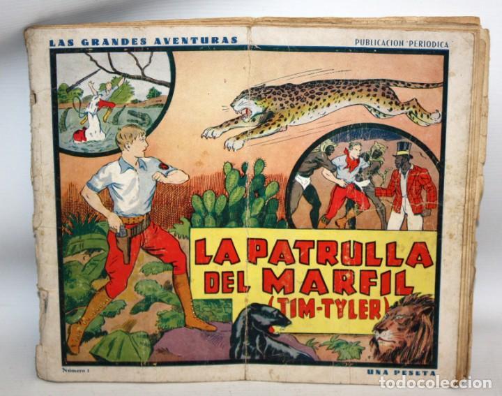 LA PATRULLA DEL MARFIL-NUMERO 1-TIM TYLER-AÑO 1936.HISPANO AMERICANA. (Tebeos y Cómics - Números 1)