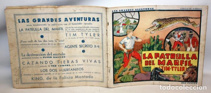 Tebeos: LA PATRULLA DEL MARFIL-NUMERO 1-TIM TYLER-AÑO 1936.HISPANO AMERICANA. - Foto 2 - 137716802