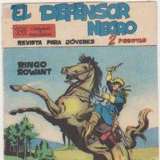 Tebeos: EL DEFENSOR NEGRO Nº 1. MAGA 1963.. Lote 139841654