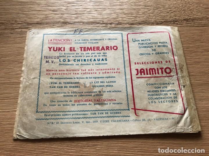 Tebeos: Nº 1 YUKI EL TEMERARIO, ED VALENCIANA 1958 - Foto 2 - 141323950