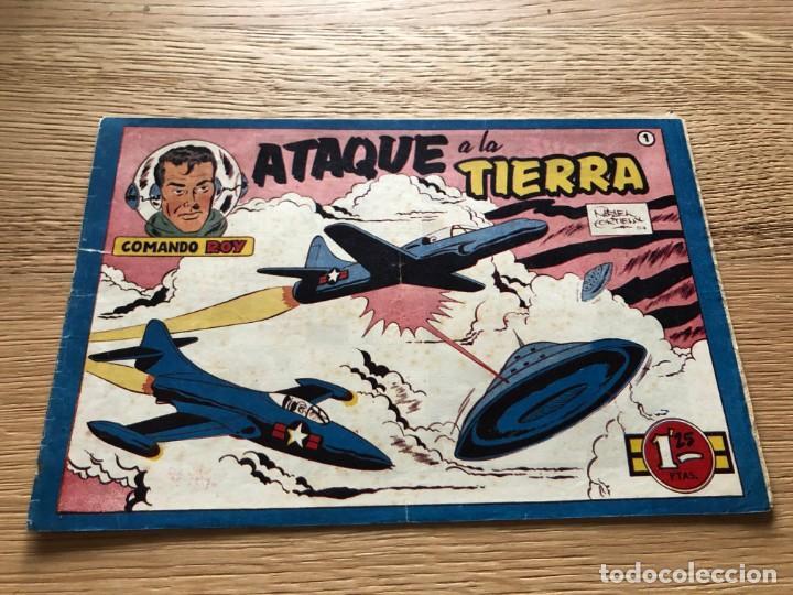Nº 1 , COMANDO ROY, ATAQUE A LA TIERRA, ED SIMBOLO 1954, MUY BUEN ESTADO (Tebeos y Cómics - Números 1)