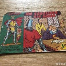 Tebeos: Nº 1, EL CABALLERO ENIGMA, UN CABALLERO SIN HONOR, ED ACRÓPOLIS 1963. Lote 141326126